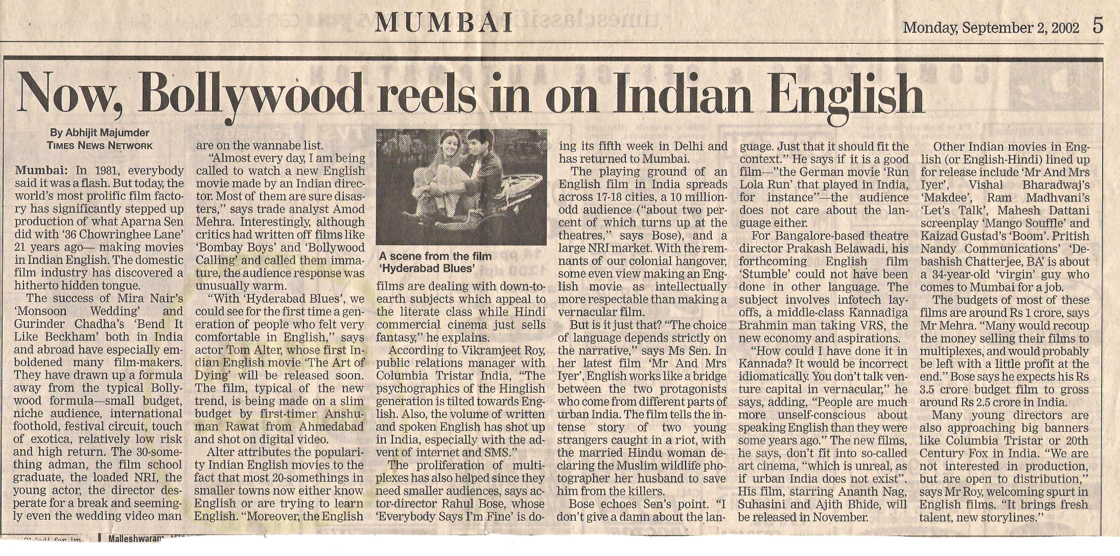 Anshman @ The Times of India, Mumbai
